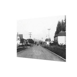 Tillamook, Oregon Residential Street Scene Canvas Print