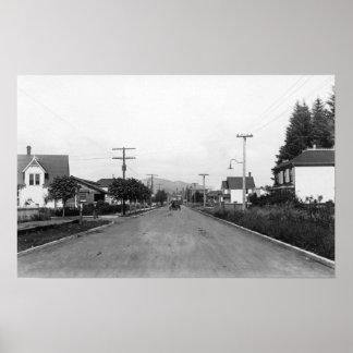 Tillamook, Oregon Residential Street Scene Poster