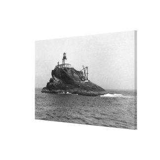 Tillamook Rock, dominated by its Lighthouse Canvas Print