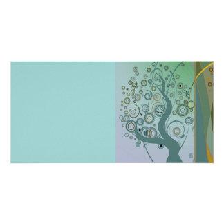 Tillbert el árbol plantilla para tarjeta de foto