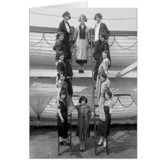 Tiller Girls Dance Troupe: early 1900s Card
