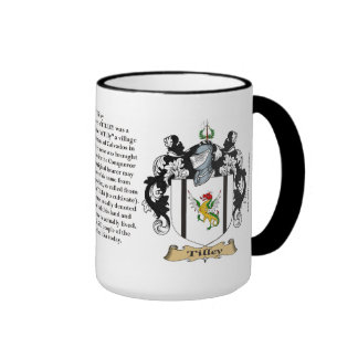 Tilley Family Coat of Arms Coffee Mugs