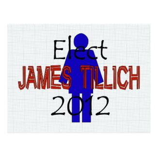 Tillich For President Postcard