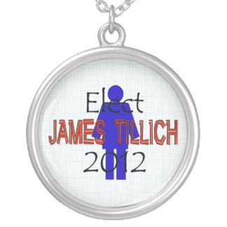 Tillich For President Round Pendant Necklace