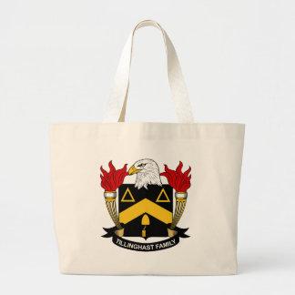 Tillinghast Family Crest Large Tote Bag
