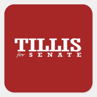 TILLIS FOR SENATE 2014 SQUARE STICKER