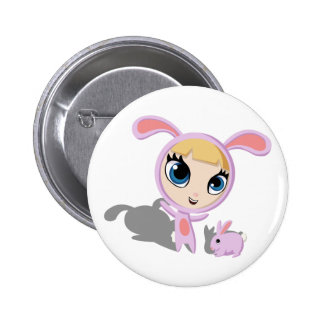 Tilly and CreamPuff 2 Inch Round Button