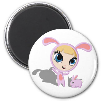 Tilly and CreamPuff 2 Inch Round Magnet