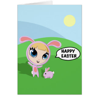 Tilly and Creampuff Greeting Card