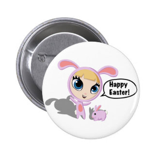 Tilly and CreamPuff Happy Easter! 2 Inch Round Button