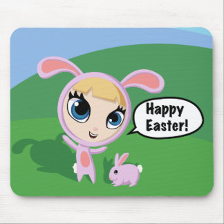 Tilly and Creampuff Happy Easter! Mouse Pad