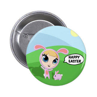 Tilly and Creampuff the Rabbit 2 Inch Round Button