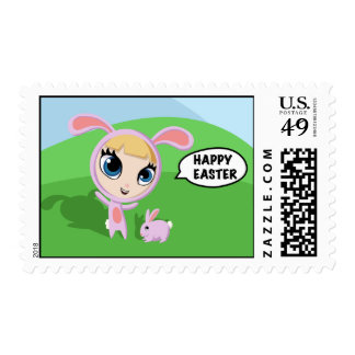 Tilly and Creampuff the Rabbit - Happy Easter! Stamps