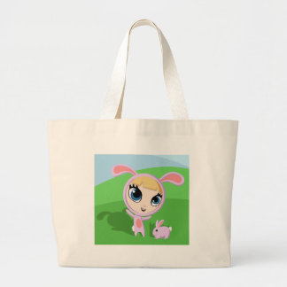 Tilly and Creampuff the Rabbit Jumbo Tote Bag