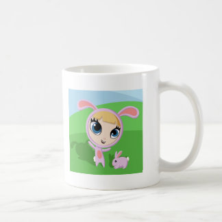 Tilly and Creampuff the Rabbit Classic White Coffee Mug