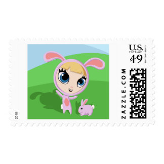 Tilly and Creampuff the Rabbit Postage