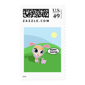 Tilly and Creampuff the Rabbit Stamps