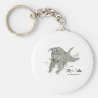 Tilly Basic Round Button Keychain