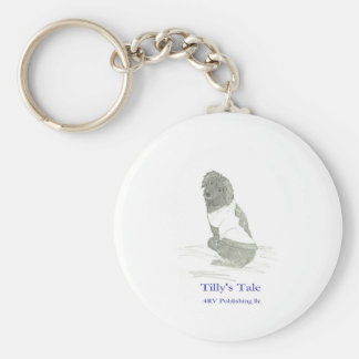 Tilly in sweater, 4RV Publishing llc Basic Round Button Keychain