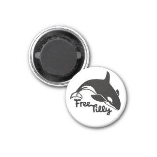 Tilly libre imán redondo 3 cm