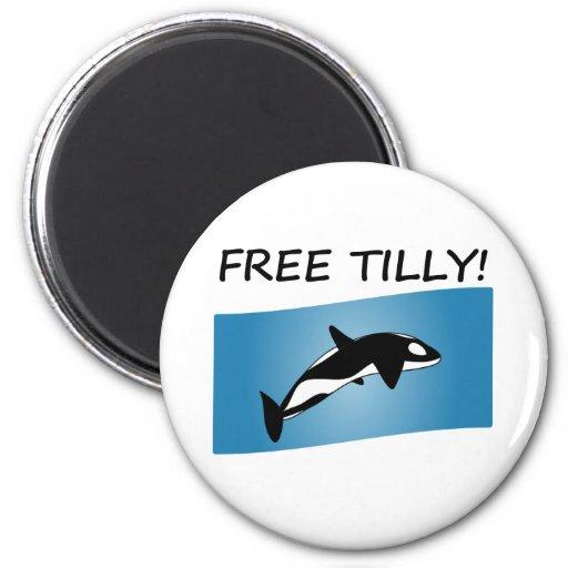 Tilly libre imán redondo 5 cm