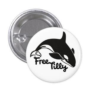 Tilly libre pin redondo de 1 pulgada