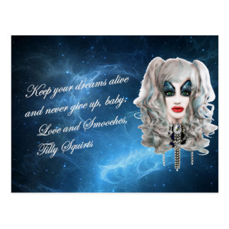 Tilly Squirts: Virtual Drag Queen Postcard