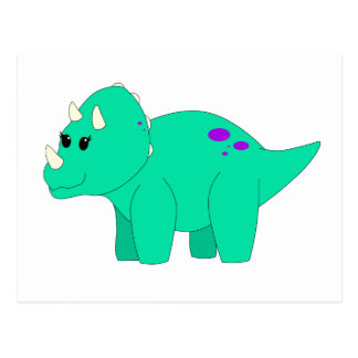 Tilly Triceratops Postcard