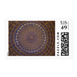 Tillya-Kori Madrasah: Ceiling Postage Stamp