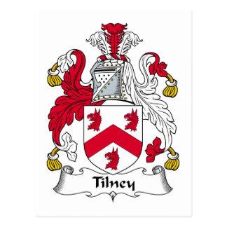 Tilney Family Crest Postcard