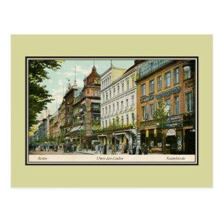 tilo de la guarida de Berlín Unter de los 1890s Postal