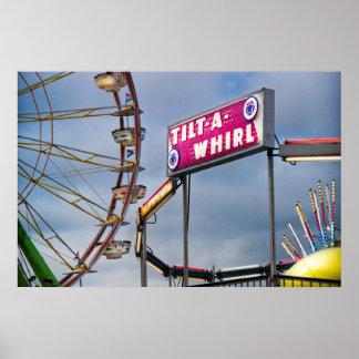 Tilt A Whirl Carnival Fun Poster