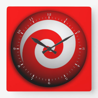 Tilt-a-whirl Square Wall Clock