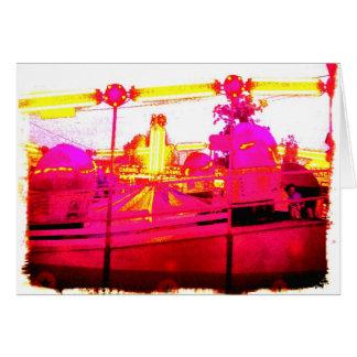 Tilt-A-Whirl Sunset Abstract Art Photo Blank Insid Card