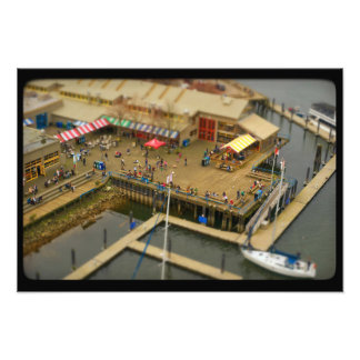 Tilt–shift Granville Market Photo Print