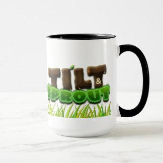 Tilt & Sprout Logo Mug with White Rose