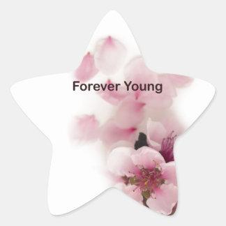 tilte para siempre joven pegatina en forma de estrella