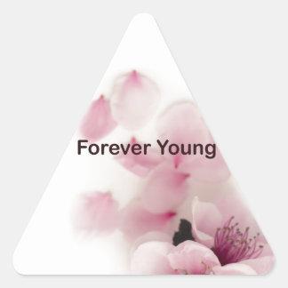 tilte para siempre joven pegatina triangular