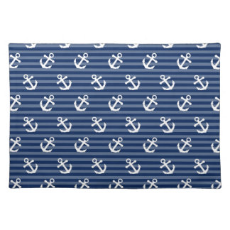 Tilted Anchors Cloth Place Mat