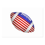 Tilted Football With American Flag Design (1) Business Card Template