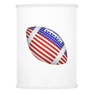 American flag lamp shades zazzle tilted football with american flag design 1 lamp shade mozeypictures Images