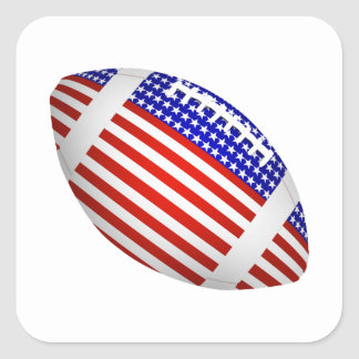Tilted Football With American Flag Design 1 Sticker