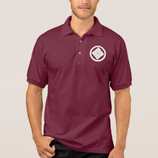 Tilted four-square-eyes in circle polo shirt