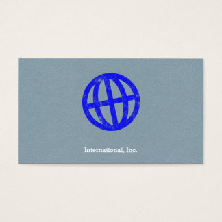 Tilted Globe Letterpress Symbol Business Card