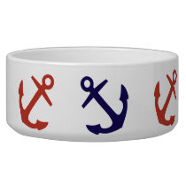 Tilted Nautical Anchor Pattern Bowl