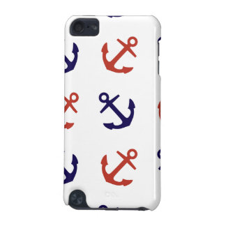 Tilted Nautical Anchor Pattern iPod Touch 5G Case