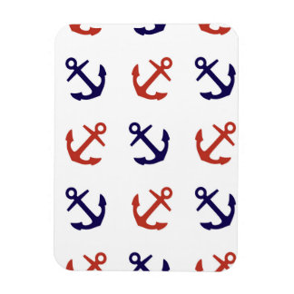 Tilted Nautical Anchor Pattern Magnet