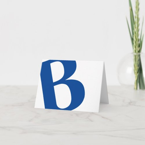 TILTED PERSONALIZED INITIAL architectural style Note Card