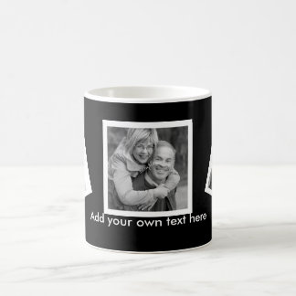 Tilted Photos Custom Personalized with Text Coffee Mug
