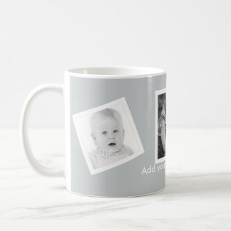 Tilted Photos Custom Text Any Color Coffee Mug